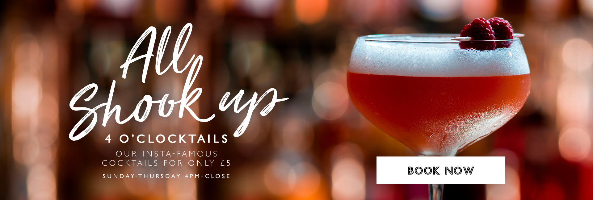 4 O'clocktails at All Bar One Cambridge - Book now