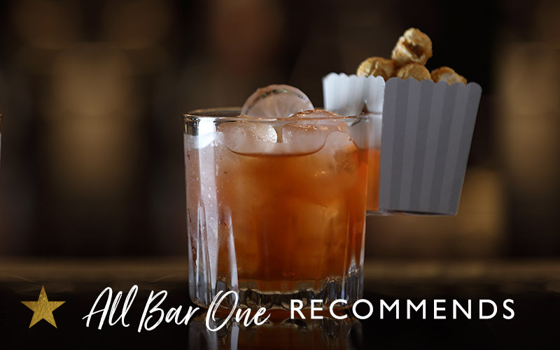 SALTED CARAMEL OLD FASHIONED WITH POPCORN