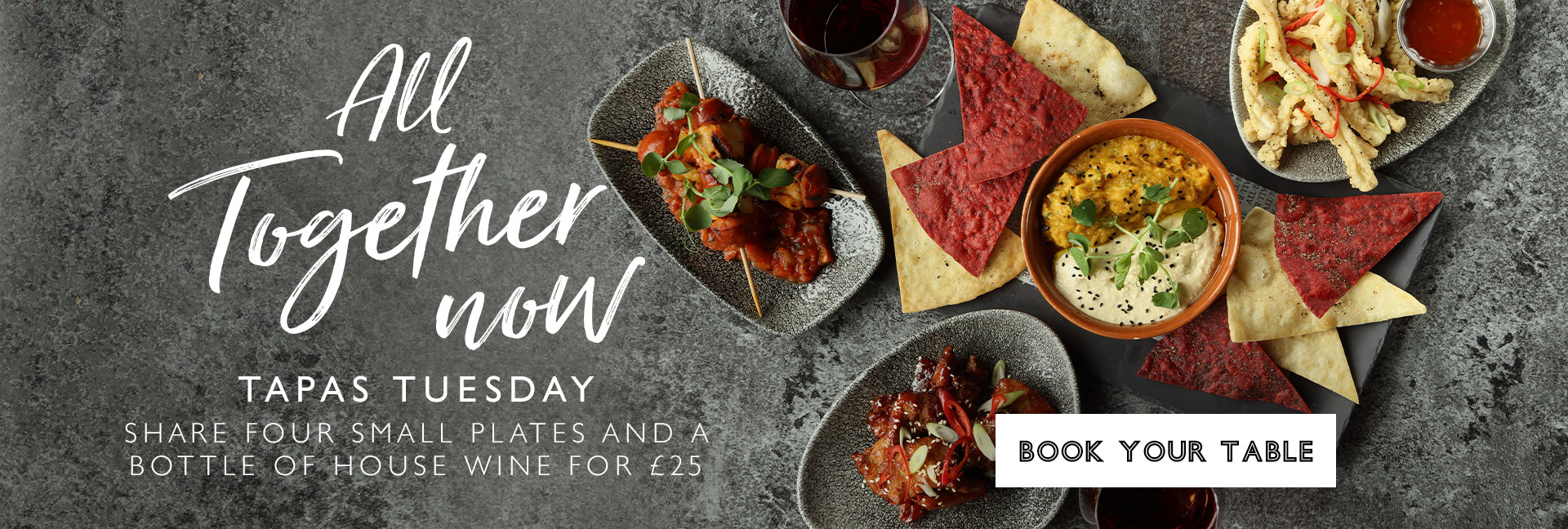 Tapas Tuesday at All Bar One Charing Cross - Book now