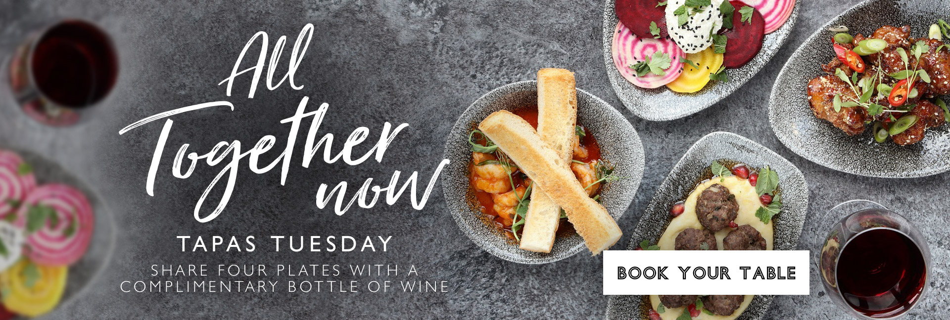 Tapas Tuesday at All Bar One Sutton - Book now