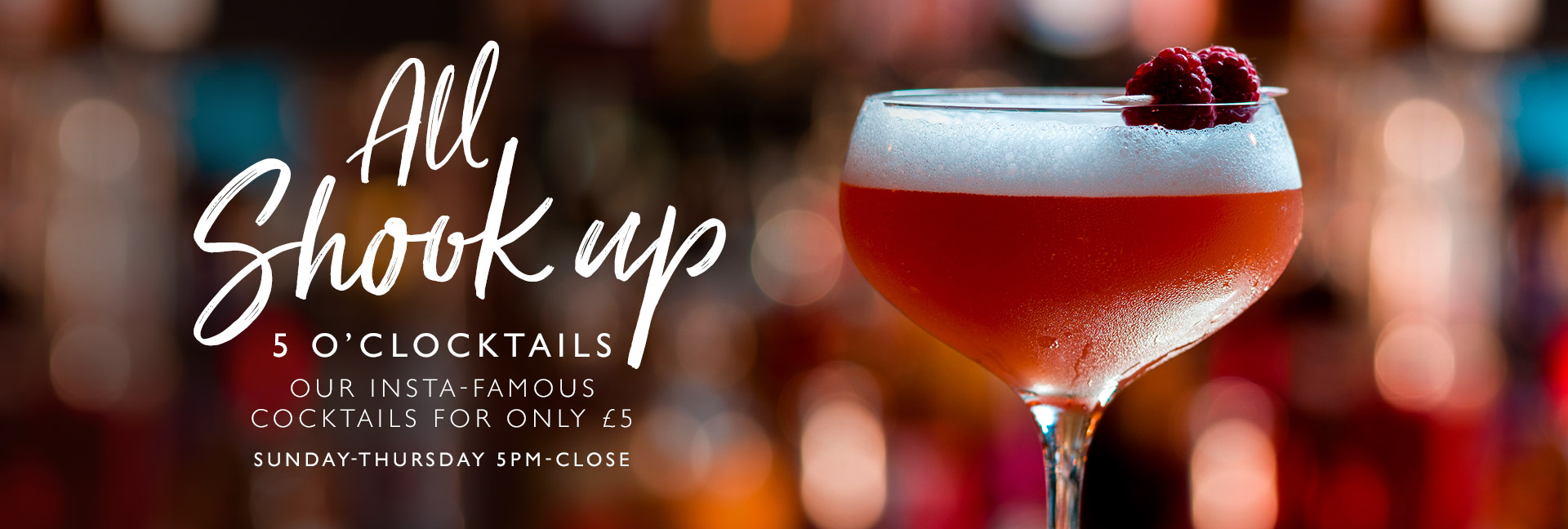 5 O'clocktails at All Bar One Houndsditch - Book now