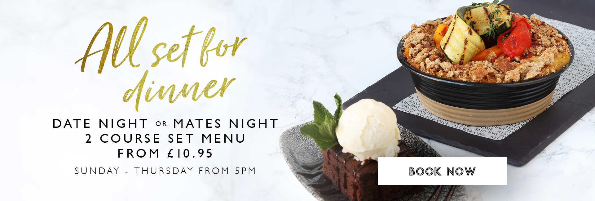 Date Night or Mate Night at All Bar One
