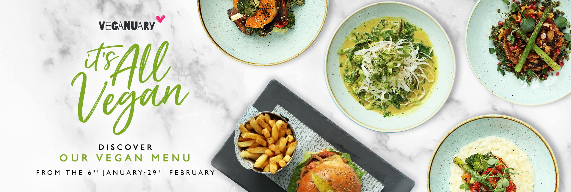Veganuary Menu at All Bar One New Street Station