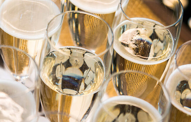 Champagne at All Bar One