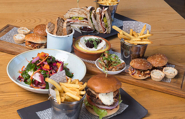 Food to share at All Bar One