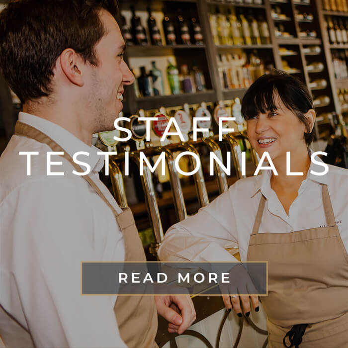 Staff testimonials at All Bar One