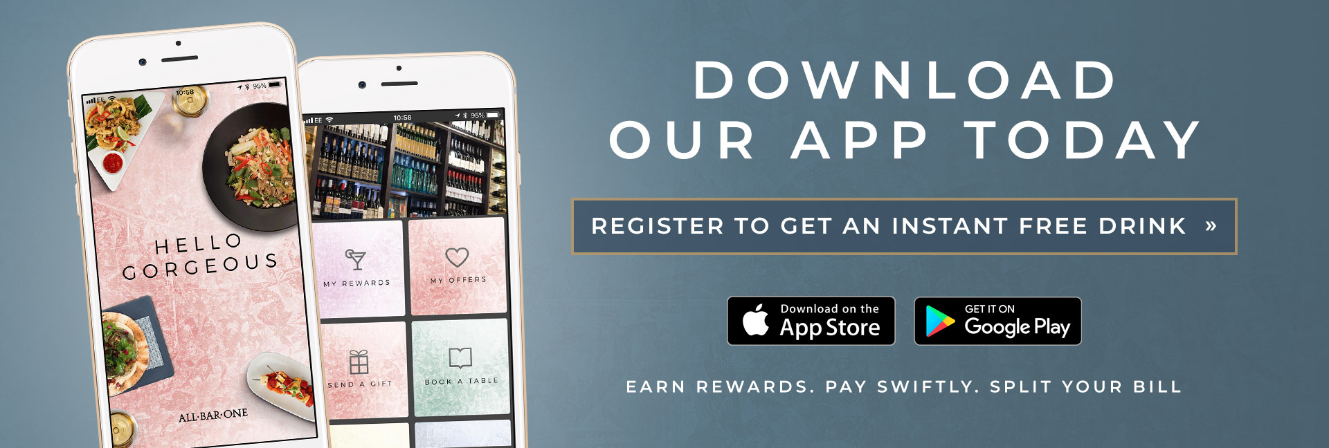 Download the All Bar One App today