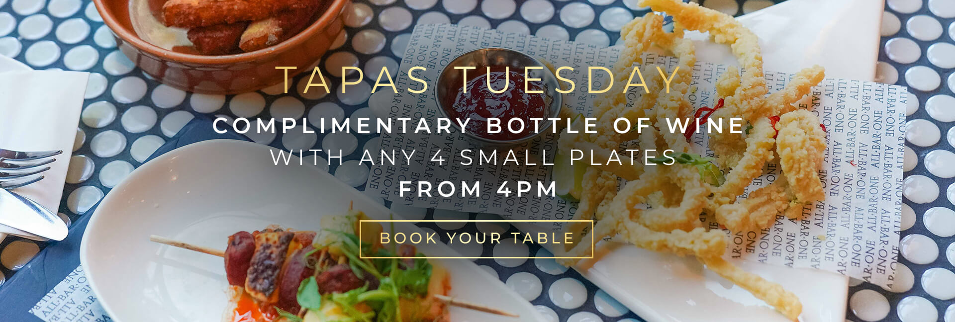 Tapas Tuesday at All Bar One The O2 - Book now