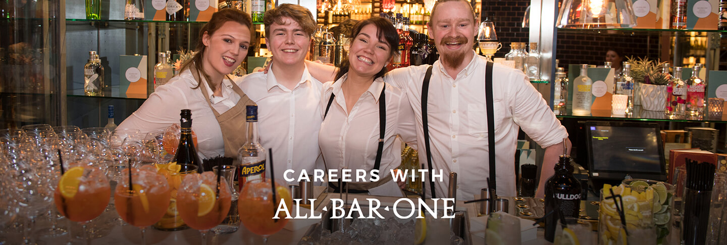 Careers at All Bar One Appold Street in the City of London