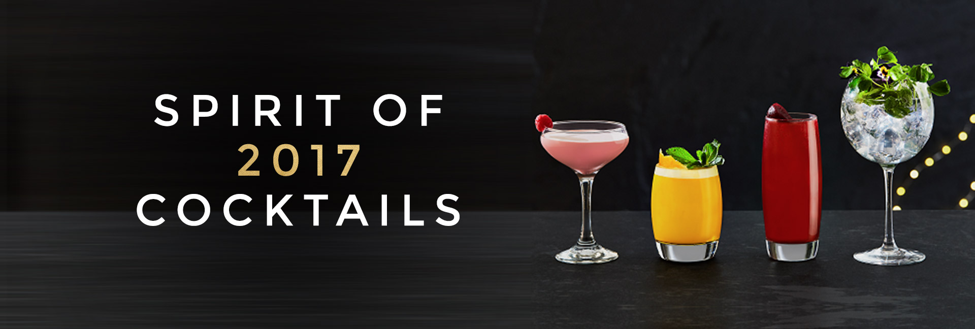 Spirit of 2017 cocktails at All Bar One Newhall Street Birmingham