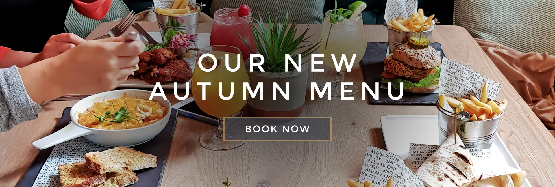 Our new Autumn menu at All Bar One Nottingham - Book now
