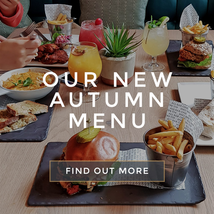 Our new autumn menu at All Bar One Newhall Street Birmingham
