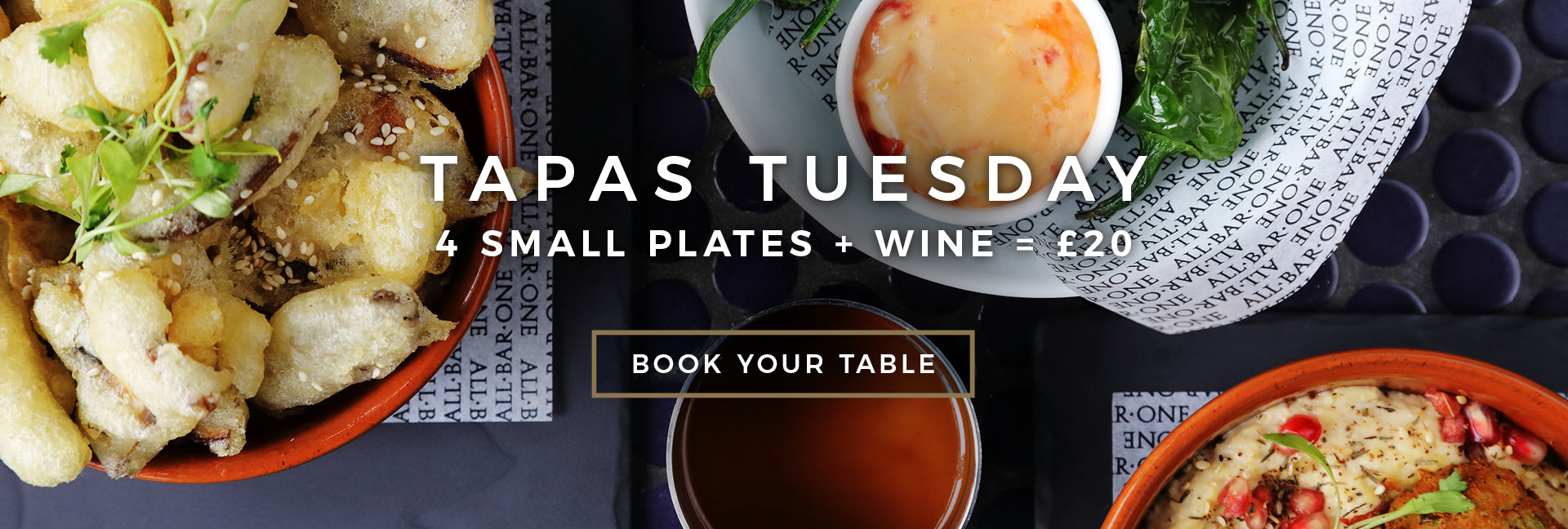 Tapas Tuesday at All Bar One Kingsway - Book now