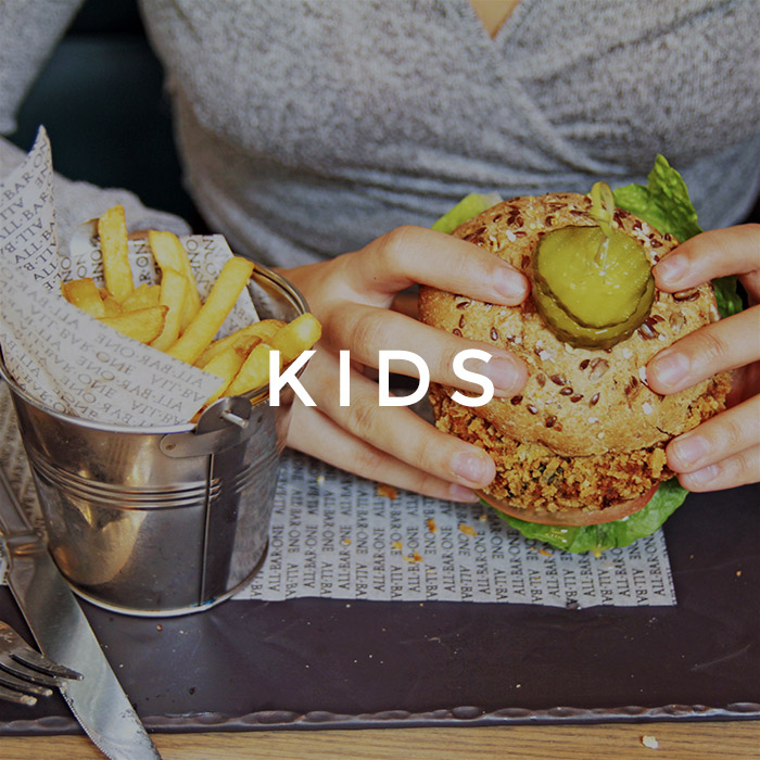 Kids menu at All Bar One