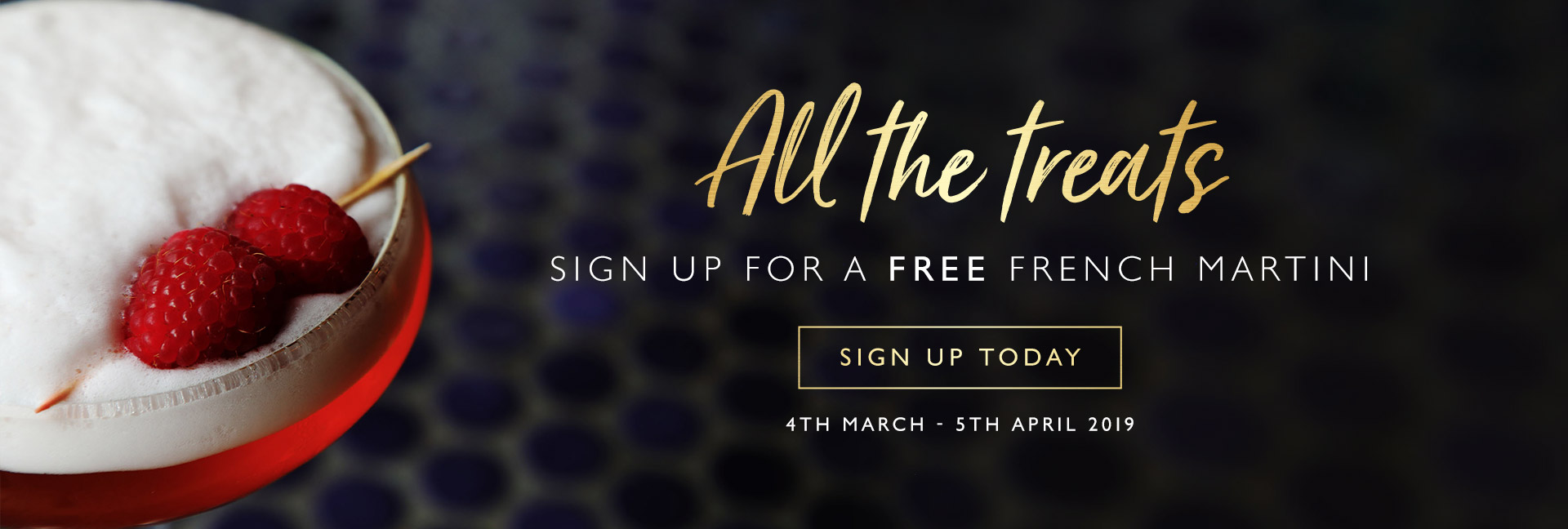 Sign up to All Bar One The O2